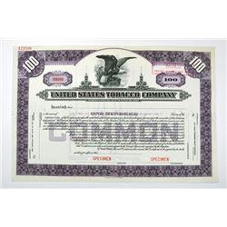 United States Tobacco Co., ca.1930's Specimen Stock Certificate