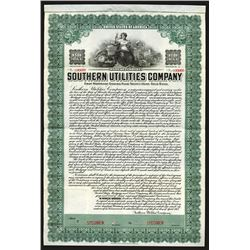 Southern Utilities Co., 1913 Specimen Bond