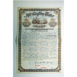 Grafton Water Co. 1889 Specimen Bond..