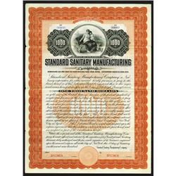Standard Sanitary Manufacturing Co., 1900 Specimen Bond