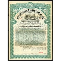 Albion Gas Light Co., 1895 Specimen Bond