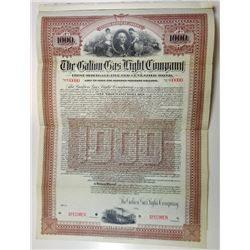 Galion Gas Light Co., 1902 Specimen Bond