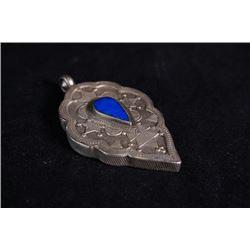 A 925 silver Tibetan style pendant.