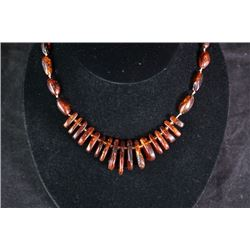 An Amber necklace.