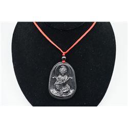 "A class Lantian jade ""Guan Yin"" pendant."