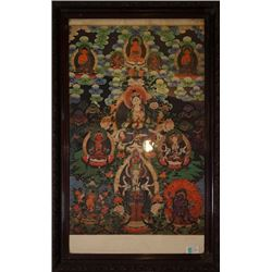 Mid-20th century Thangka.Mounted for framing.