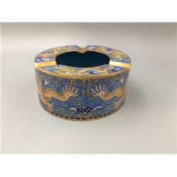 A Middle 20th Century Cloisonne Enamel Ashtray.