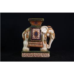 "An""elephant""porcelain decoration, small repair on the top."