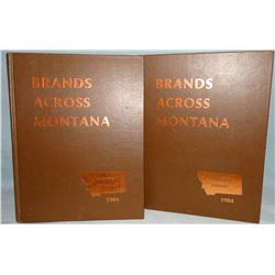 Brands Across Montana, 1984, 2 vols., near fine