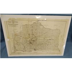 Early 1900's map of Fergus, Petroleum and Judith Basin Counties, Montana