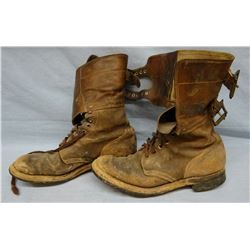 WW II U. S. Army paratrooper boots and Private's uniform