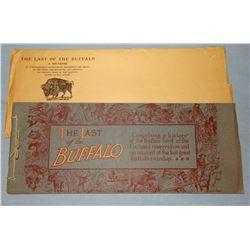 The Last Buffalo, A Souvenir, 1909, near fine with original envelope