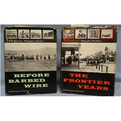 2 books: Huffman, L. A., Before Barbed Wire & The Frontier Years, Holt, dj