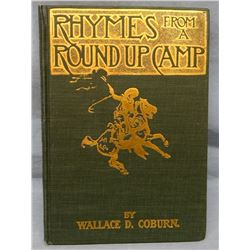 Coburn, Wallace D., Rhymes of A Roundup Camp, 1899, 1st, illus. by C.M. Russell, loose spine