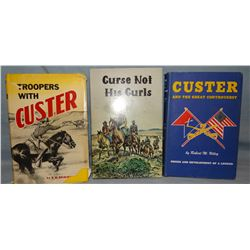 3 books on Custer, Troops With Custer, Brinningstool, 1st, signed, 1952, dj; Custer and the Great Co
