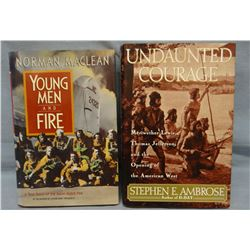 Ambrose, Stephen, Undaunted Courage, 1996, 1st, signed, dj, fine and MacLean, Norman, Young Men & Fi