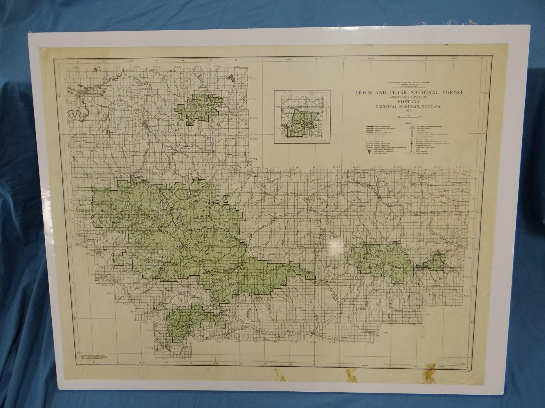 2 – 1939 Lewis & Clark Forest Service maps