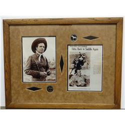 Casey Tibbs (Bronc rider) photo memorabilia, framed