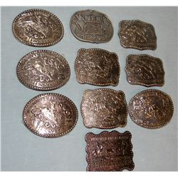 (10) Hesston National Finals Rodeo buckles, assorted years