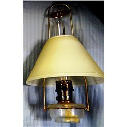 Aladdin #23 hanging oil lamp, milk glass shade