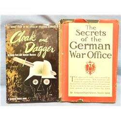2 Nazi WWII books: Graves, Dr. Arngaard, The Secrets of German War Office and Ford & McBain, Cloak &