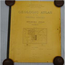 1899 Geologic Atlas of Wyoming, Absaroka, Dept. of Interior