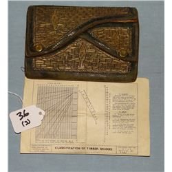 3 WWII items: Engineering blue print for a bridge across the Danube River, May 1, 1945; H & S Compan
