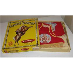 Annie Oakley 3 pc cowgirl outfit in original box, Pla-Master