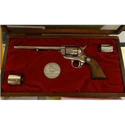 """Colt Pony Express, .45 revolver, 3 pcs, in wood case w/book and box, 7 ½"""""""