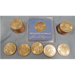 46 Eisenhower dollars, clad