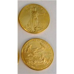 1998 $50 Gold Eagle, 1 oz. fine gold, appear to be BU