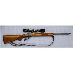 """Ruger 1V, 6 mm single shot w/Tasco 3-9 variable scope, S#133-29753, 23"""", like new"""