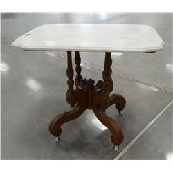 """Marble-top parlor table, 30""""w x 21""""d x 26""""t"""