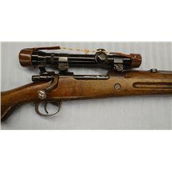 "Mauser 98, 8mm(8x57), bolt action w/Weaver scope, S#FAO463, 24"", rough"