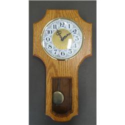 Small oak wall clock, battery operated