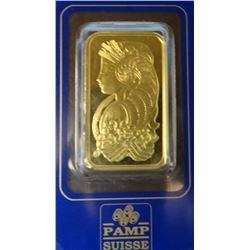 1 oz. gold bar, Pamp Suisse Lady Fortuna Veriscan (assayed)