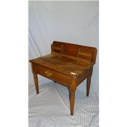"""Child's wooden desk, 24"""" h x 25"""" w"""