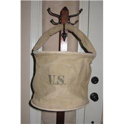 U.S. canvas horse feed bag