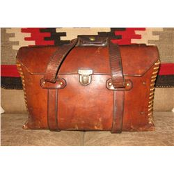 """Leather shot shell/shooter's bag, 16"""" l x 9 ½"""" w"""