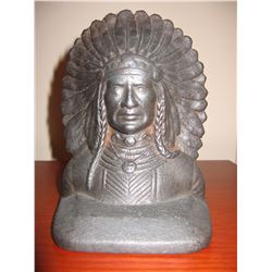 """Cast iron Indian book ends, 6"""" h x 5"""" w"""