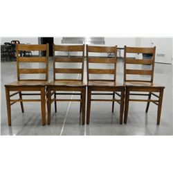 (4) Maple dining chairs
