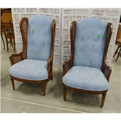 Two matching sitting chairs, blue