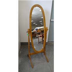 """Standing bedroom mirror, mirror is 43"""" tall, in stand 59"""" tall"""