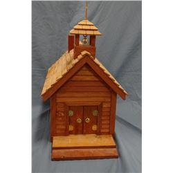 "Ed Furnish, Lewistown hand-crafted church replica, 15""h x 9""w"