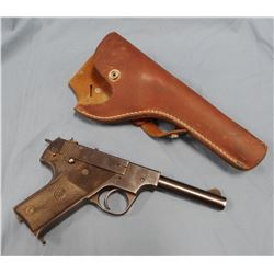 Hi-Standard Model HB, .22, s#299671, with leather holster