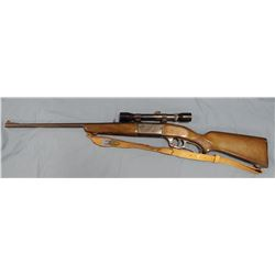 Savage Model 99E, .308 win, s#D403346, with Bushnell 4x32 scoop, tooled leather sling