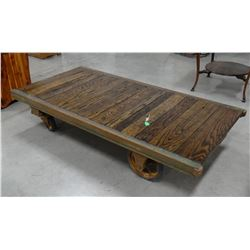"""Railroad luggage cart, 73"""" long, made by The Fairbanks Co."""