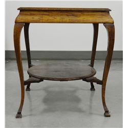 """Square oak parlor table, 24"""" square, 30""""t"""