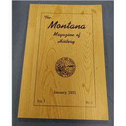 The Montana Magazine of History, Vol I, January 1951, fine
