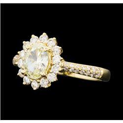 1.20 ctw Diamond Ring - 14KT Yellow Gold